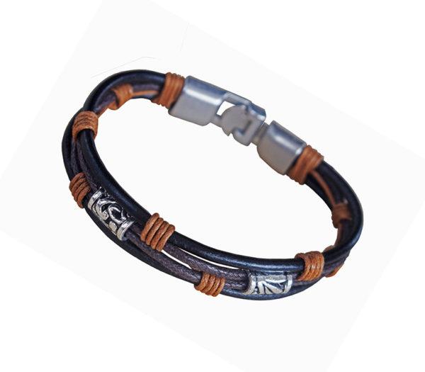 läderarmband metallspänne