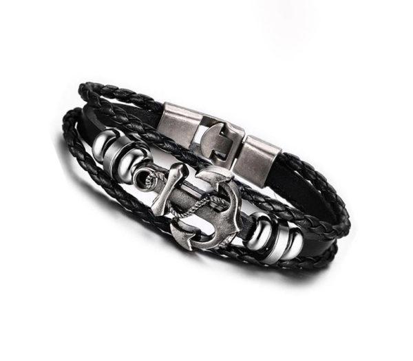 svart armband ankare