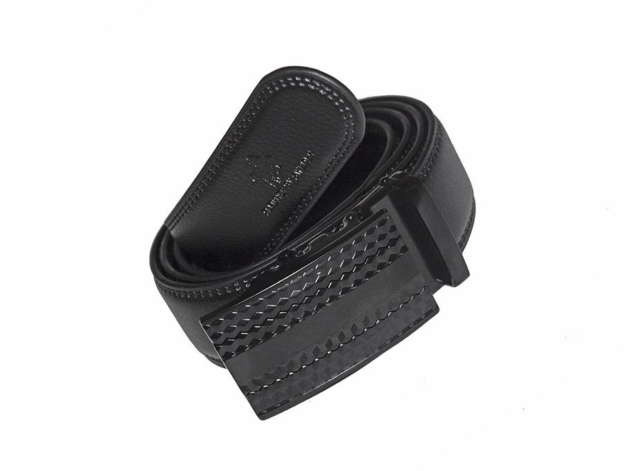 läderskärp svart